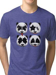 panda kiss  Tri-blend T-Shirt