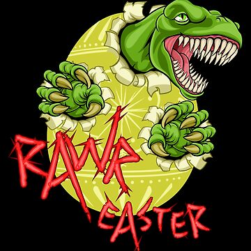 Rawr Easter T-Rex Dinosaur Ripping Through Egg by peaktee