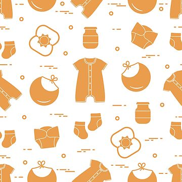 Newborn baby seamless pattern. by aquamarine-p