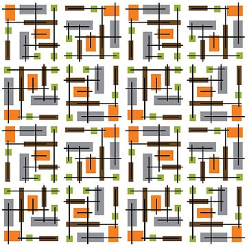 Mid Century Modern Geometric Pattern by thepixelgarden