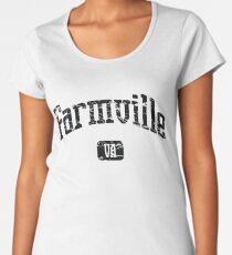 Farmville Virginia VA Vintage Style Faded Tee from Hometown Tees Women's Premium T-Shirt