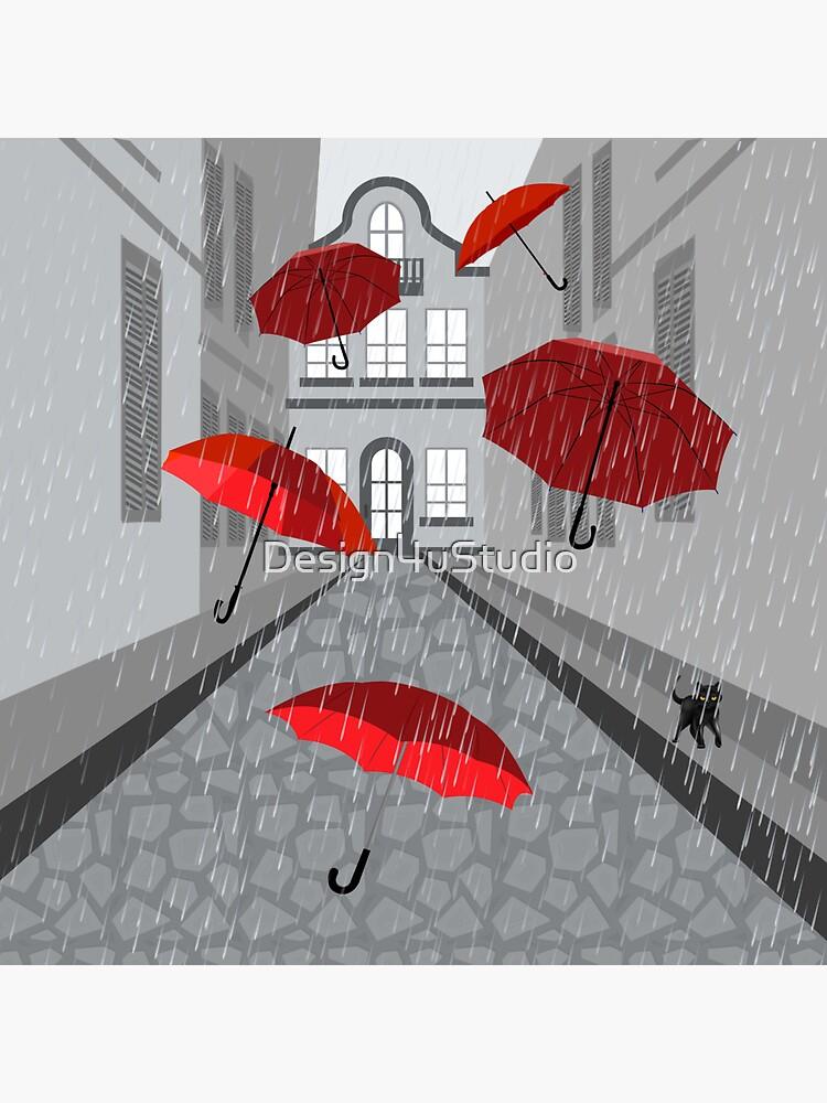 Regenschirme in der Gasse von Design4uStudio