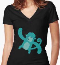 Blue Monkey Women's Fitted V-Neck T-Shirt