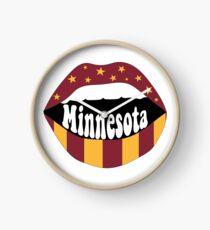Minnesota Lips Clock