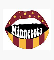 Minnesota Lips Photographic Print