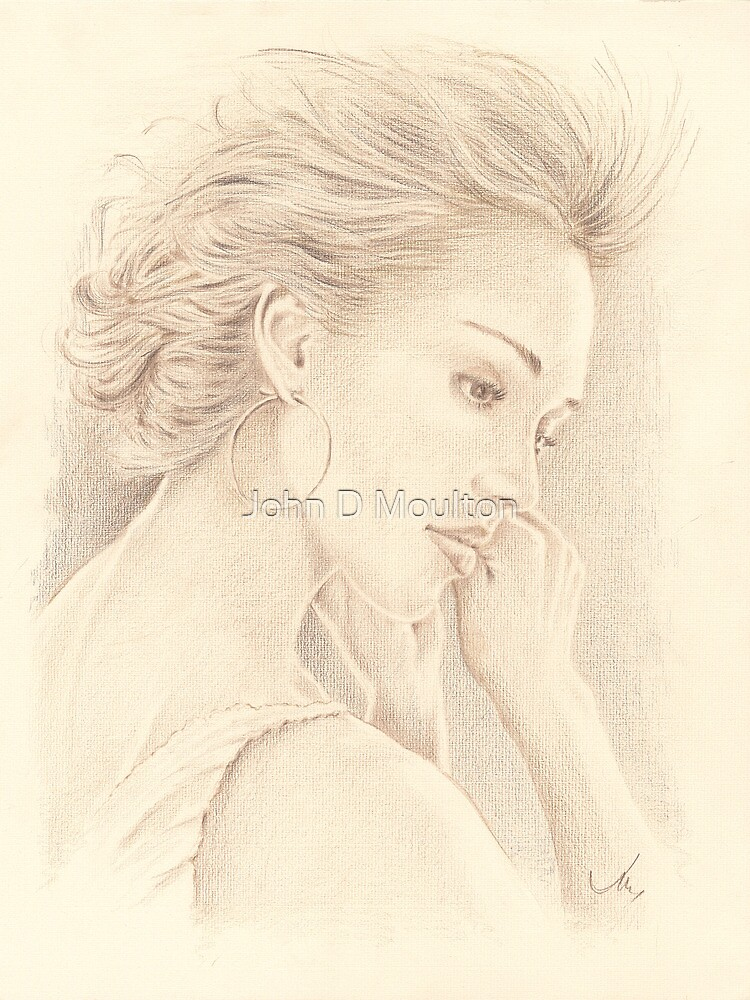 """Jessica"" Color Pencil Art Work by John D Moulton"