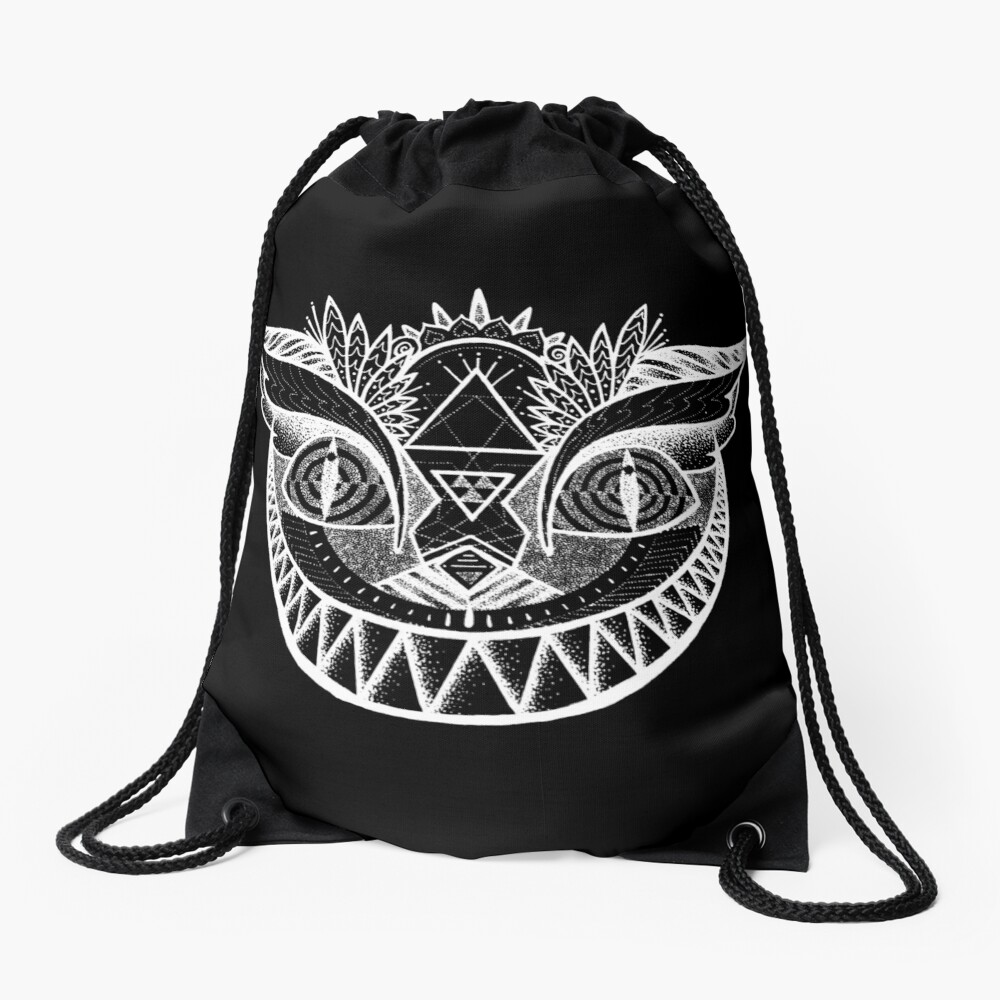 We're All Maddd Here - Black Drawstring Bag