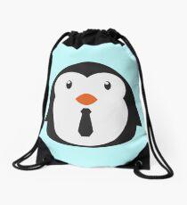 Super Chill Penguin Drawstring Bag