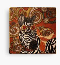 SteamPunk Zebra Canvas Print