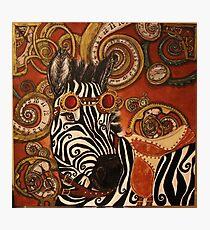 SteamPunk Zebra Photographic Print