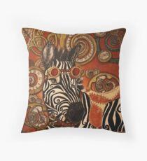 SteamPunk Zebra Throw Pillow