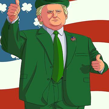 Make St Patricks Day Great Again Leprechaun Trump by Nosek1ng