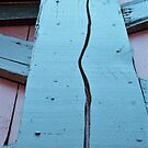 Rural Architecture Split Texture Red Blue Green by Cara Schingeck