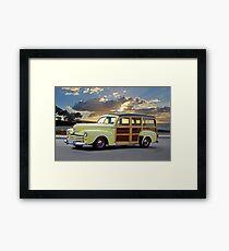 1946 Ford Woody Wagon 'Summer Begins' Framed Print