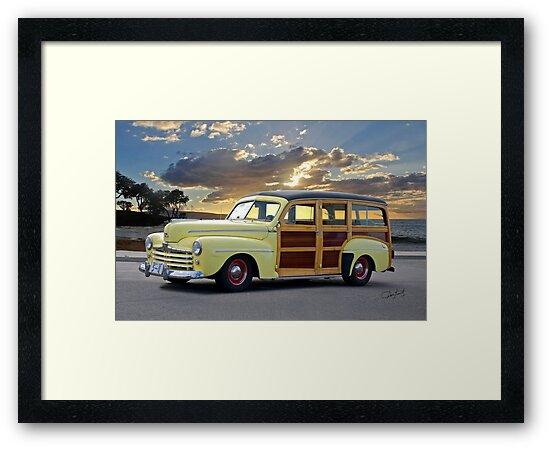 1946 Ford Woody Wagon 'Summer Begins' by DaveKoontz