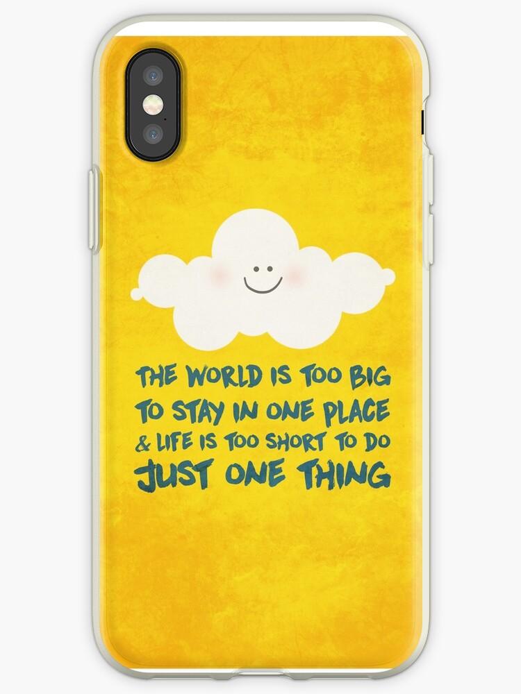 Happy cloud & the big, big world  by nannapaskesen