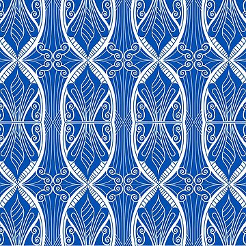 Blue and White patterm by mitalim