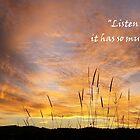 Hören Sie die Stille, es hat so viel zu sagen von LifeisDelicious