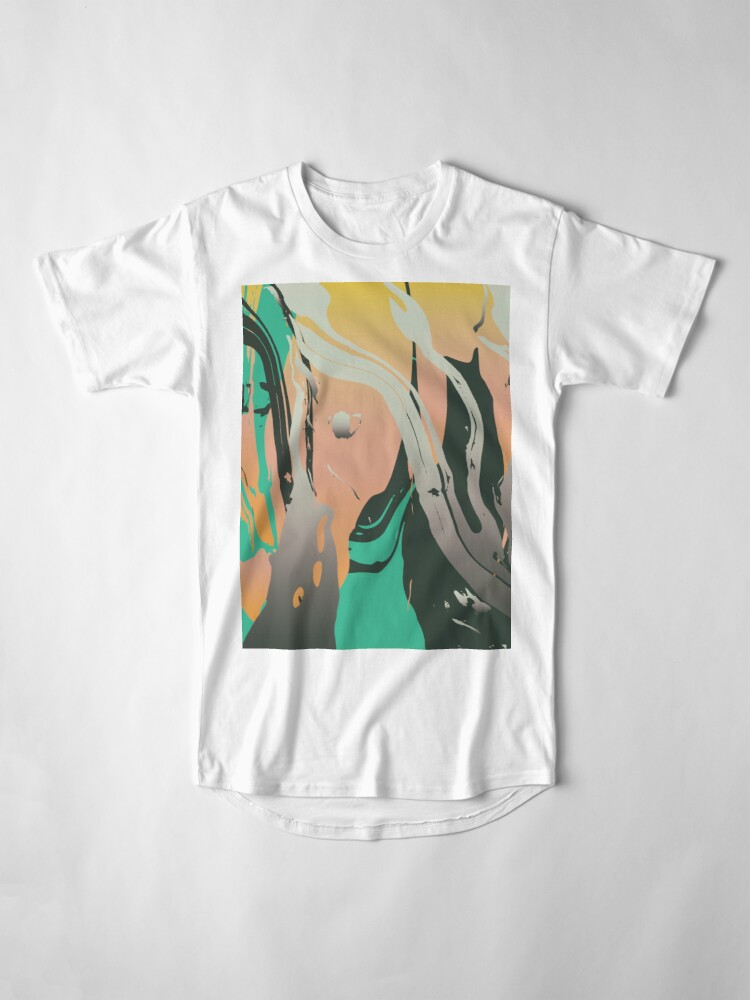 Alternate view of Abstract Marble 3 Long T-Shirt