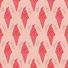Rosa nahtloses Muster der Eiscreme von owliedesign