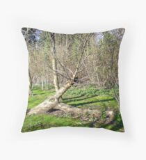 Tree Sculpture in Upton Park Throw Pillow