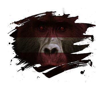 Latvia Gorilla Flag by ockshirts