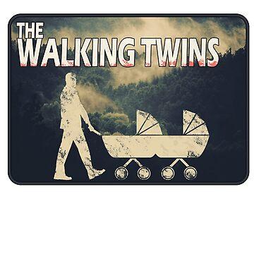 The Walking Twins - Perfektes Design für Väter von Zwillingen von eCom-Media