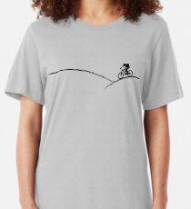 mountain bike mountain biking mtb cycling cyclist gift bicycle Slim Fit T-Shirt