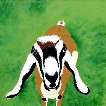 Goat by KaylaMillerArt