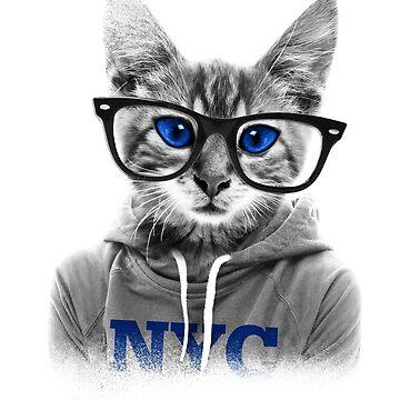 Trendy Hipster Cat by stylebytara