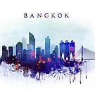 Bangkok City Skyline by DimDom