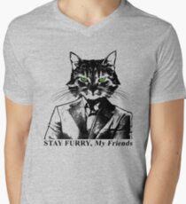 Stay Furry My Friends Men's V-Neck T-Shirt