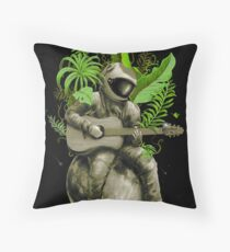 Astropical Strum Throw Pillow