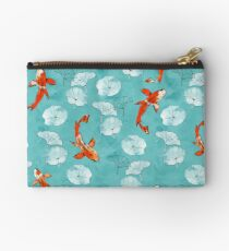 Waterlily koi in turquoise Studio Pouch