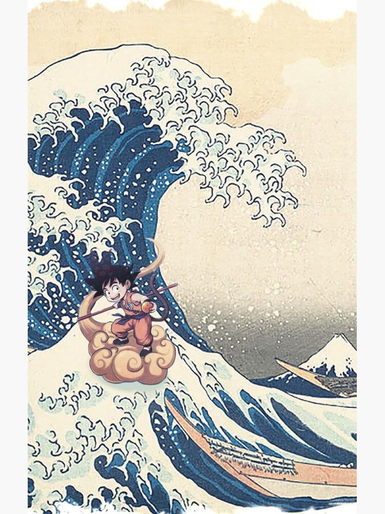 Dragon Ball Z - SonGoku Great Wave Kanagawa Japón de Kiya369