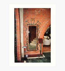 mirrors in wrought iron Art Print