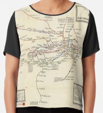 Vintage Map of The London Underground (1923) Chiffon Top