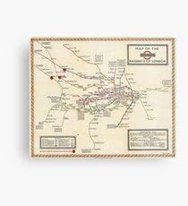 Vintage Map of The London Underground (1923) Metal Print