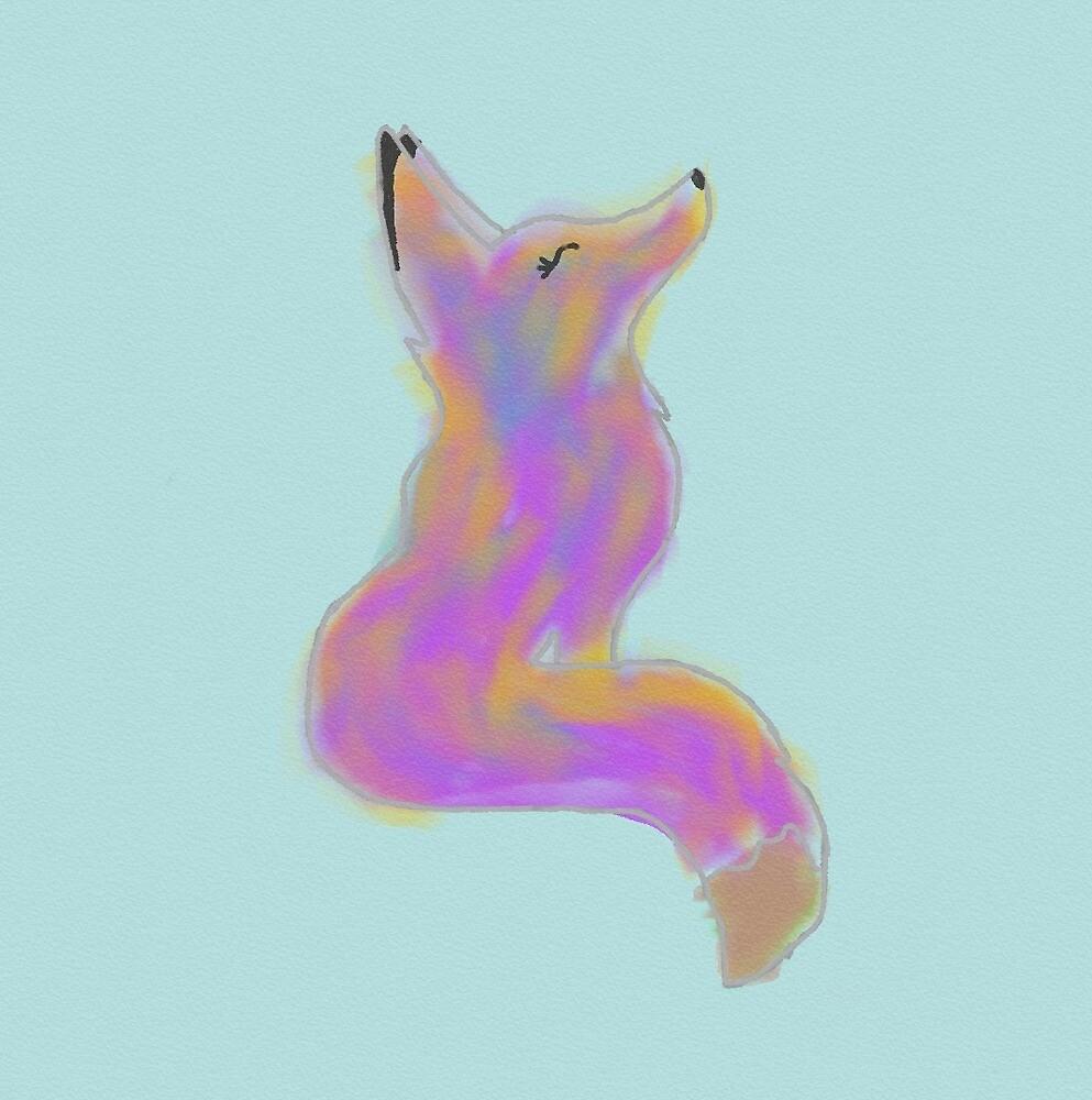 Purple Fox by glow-girl-MICHY