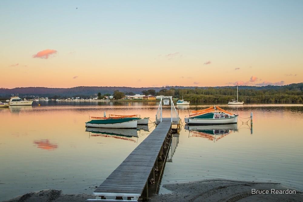 Davistown boats at sunset by Bruce Reardon