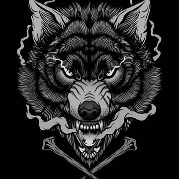 Dunkler Wolf von deniart
