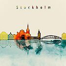 Stockholm City Skyline by DimDom