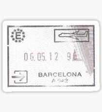 Spain Passport Stamp Sticker
