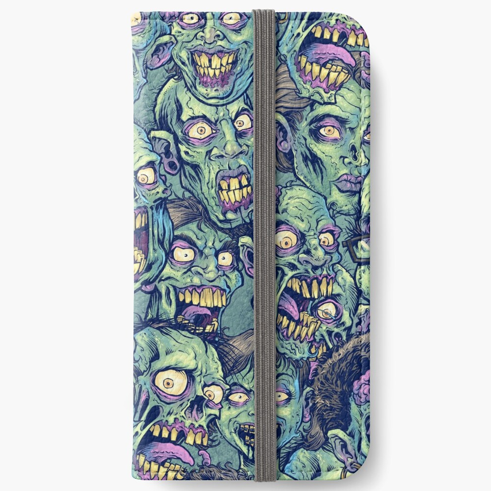 Zombie Repeatable Pattern iPhone Wallet