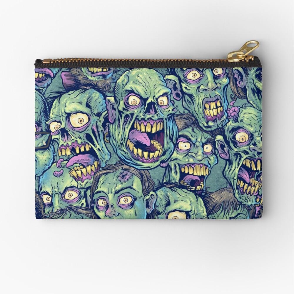 Zombie Repeatable Pattern Zipper Pouch