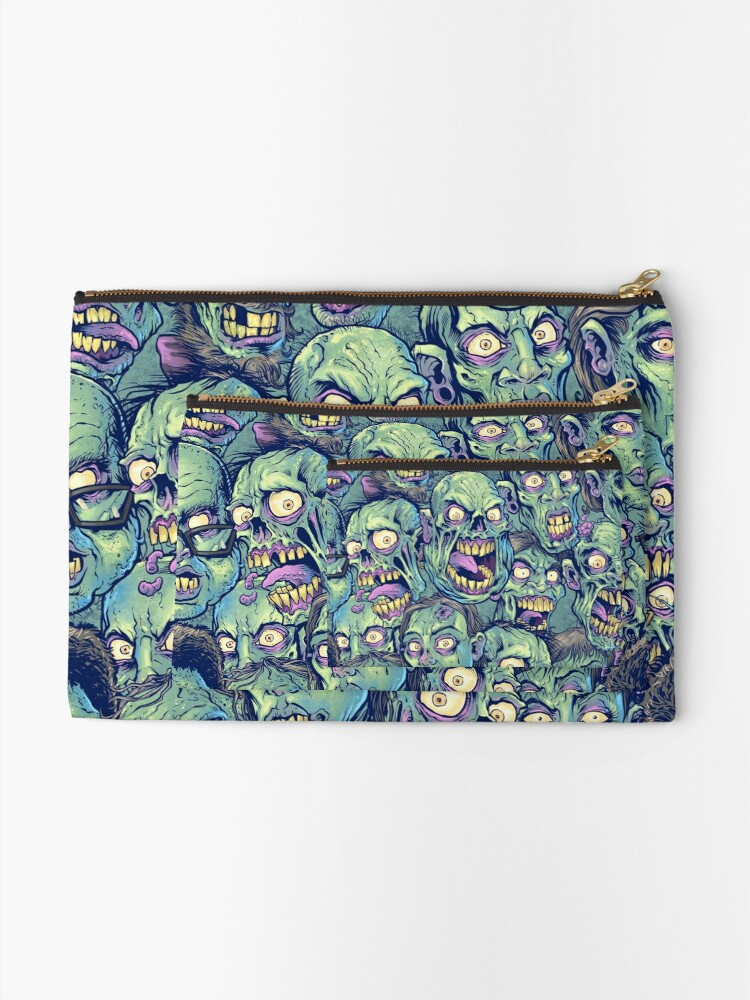 Alternate view of Zombie Repeatable Pattern Zipper Pouch