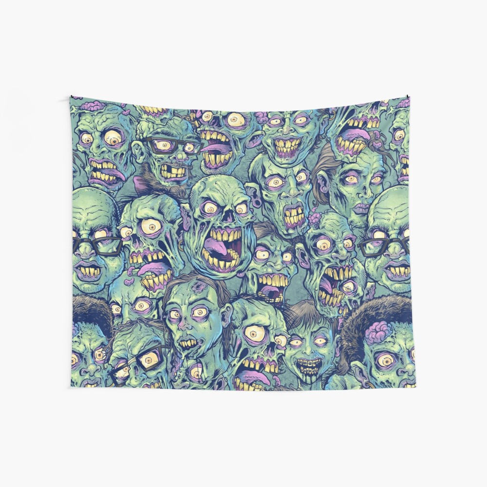 Zombie Repeatable Pattern Wall Tapestry
