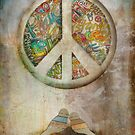 peace iphone case by Karin Taylor