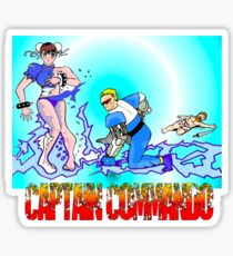 Captain Commando Versus Chun Li! Sticker