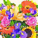 «Acuarela ramo de flores vibrante.» de Statepallets
